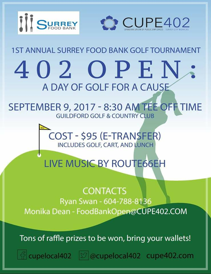 1st Annual CUPE 402 Open @ Guildford Golf & Country Club