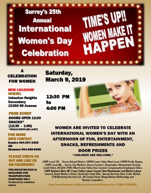 International Women's Day @ Johnston Heights Secondary School
